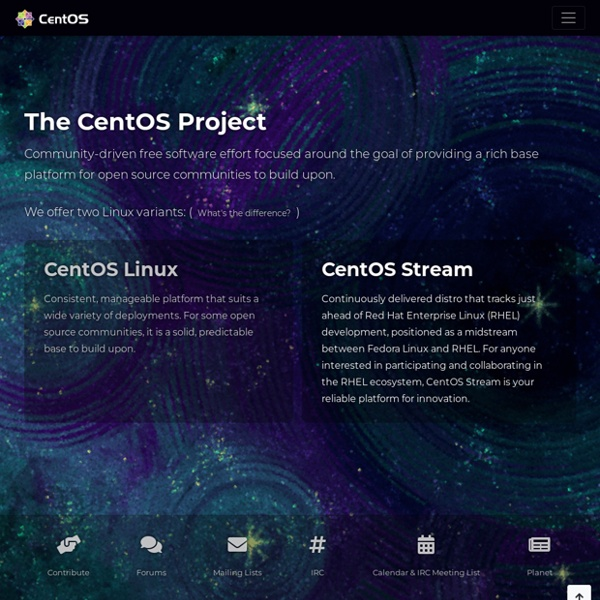Www.centos.org - The Community ENTerprise Operating System