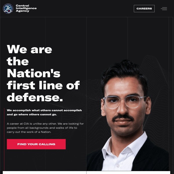Welcome to the CIA Web Site