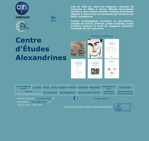 Centre d'Etudes Alexandrines.Accueil
