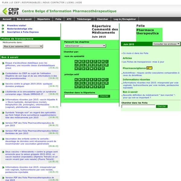 Centre Belge d'Information Pharmacothérapeutique (C.B.I.P.)