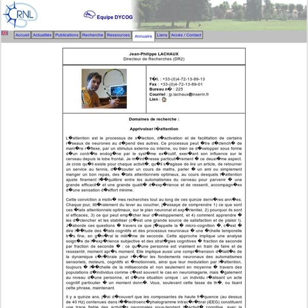 Centre de Recherche en Neurosciences de Lyon - Equipe DYCOG