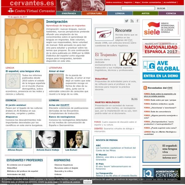Centro Virtual Cervantes.