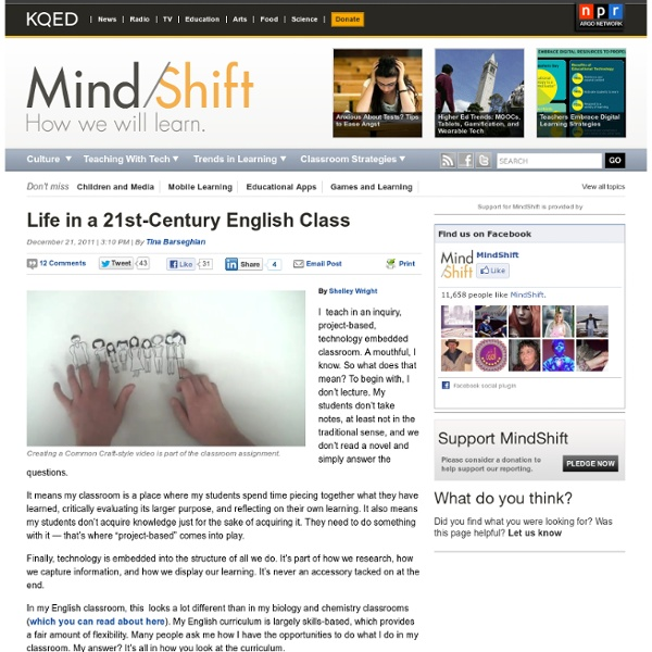 Life in a 21st-Century English Class