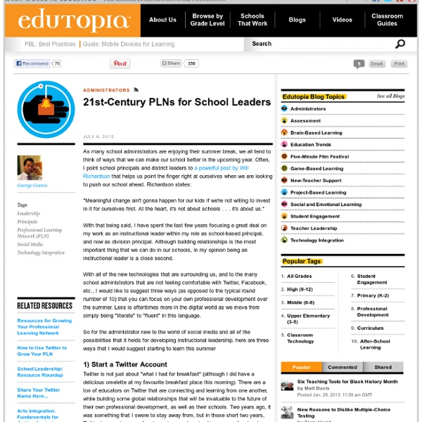 21st Century PLNs for School Leaders
