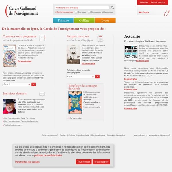 Cercle Gallimard de l'enseignement