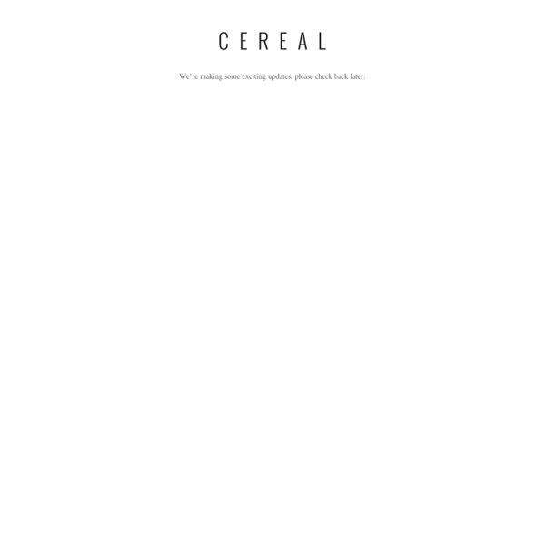 Cereal Magazine » A place for us to share our experiences in food, drink and travel.