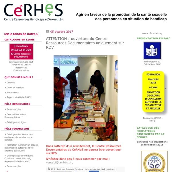 CeRHeS - Centre Ressources Handicaps et Sexualités