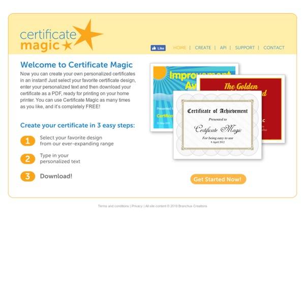 Certificate Magic Free Certificate Generator Pearltrees