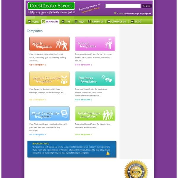 Templates - Free Printable Certificates - CertificateStreet.com