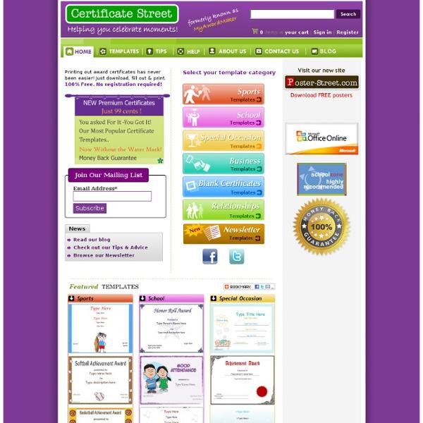 Free Certificates - CertificateStreet.com