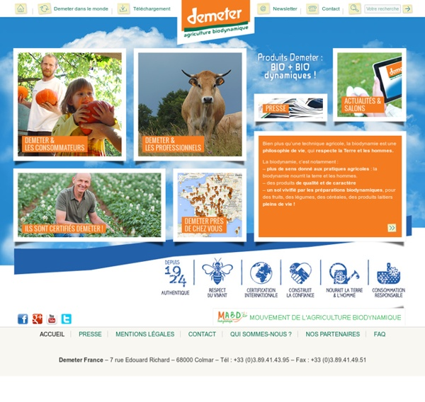 Demeter - Agriculture Biodynamique