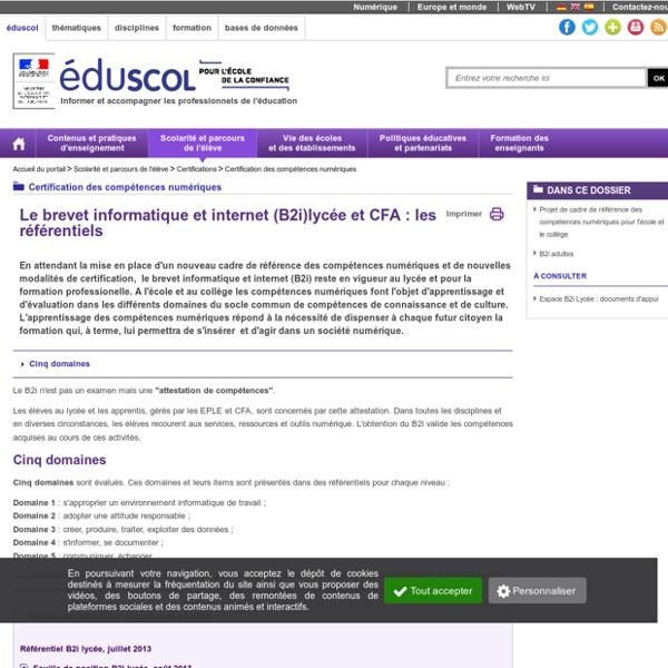 Brevet informatique et internet (B2i) - B2i