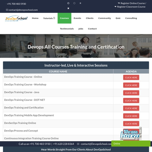 Devops All Courses Training and Certification