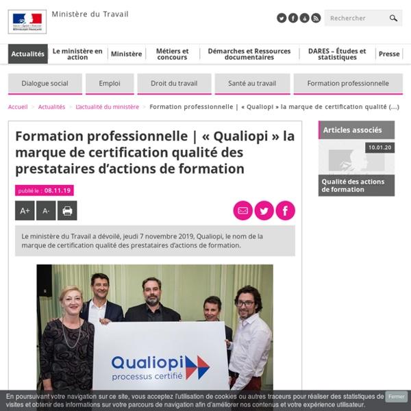 Qualiopi, marque certification qualité prestataires actions formation