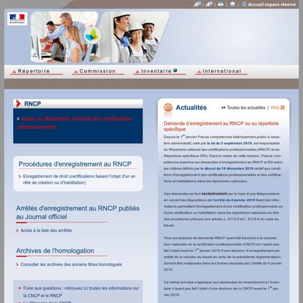 Commission Nationale de la Certification Professionnelle