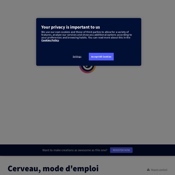 Cerveau, mode d'emploi by jerome.hubert123 on Genially