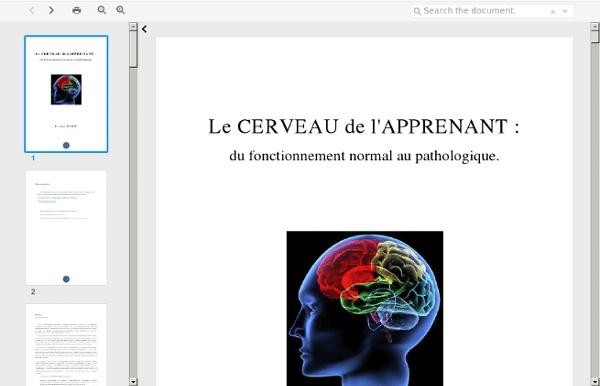 Le cerveau de lapprenant. dr Alain POUHET.pdf