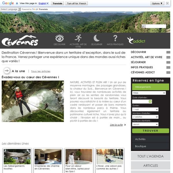 Cévennes Tourisme : vacances et weekend au coeur du Parc National des Cévennes