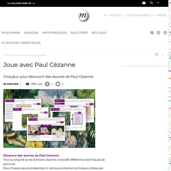 Joue avec Paul Cézanne