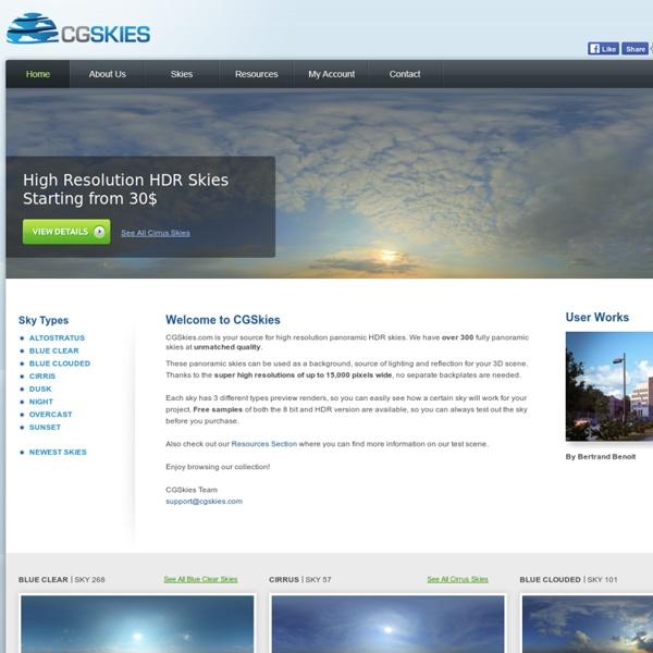 CGSkies - 350+ Panoramic HDR Skies