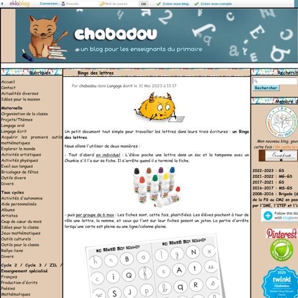 Chabadou - Un blog pour les enseignants du primaire