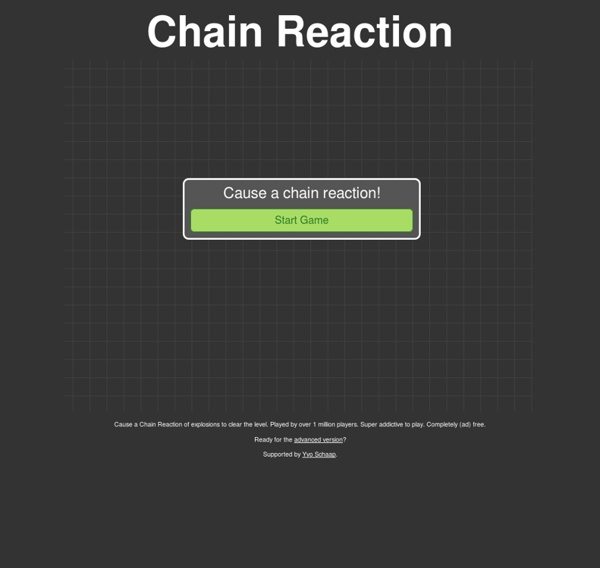 Create a Chain Reaction of explosions to clear the level.