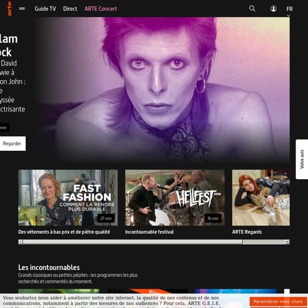 La télévision culturelle franco-allemande. Vidéos, direct
