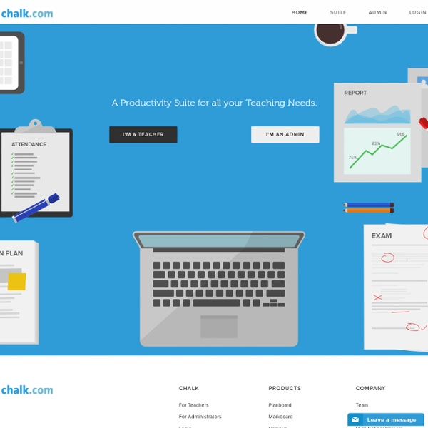 Chalk.com – A Productivity Suite for all your Teaching Needs