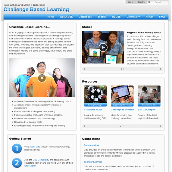 Challenge Based Learning - Home Page