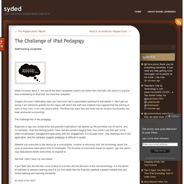 The Challenge of iPad Pedagogy