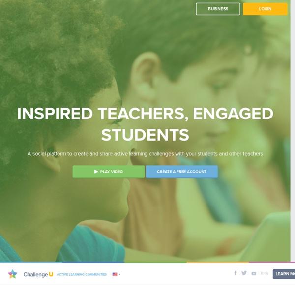 ChallengeU. Plateforme de création et de partage de contenus, de leçons, d'activités.