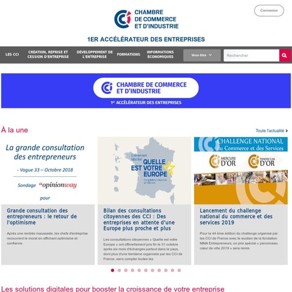 CCI.fr : portail des Chambres de commerce et d'industrie