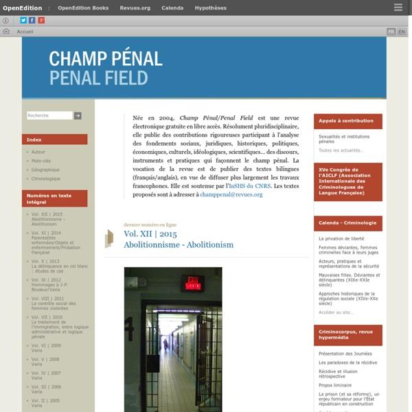 Champ pénal/Penal field