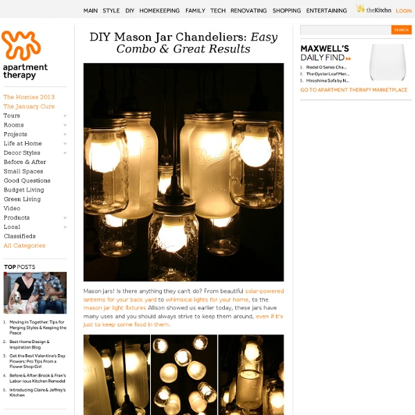 DIY Mason Jar Chandeliers: Easy Combo & Great Results