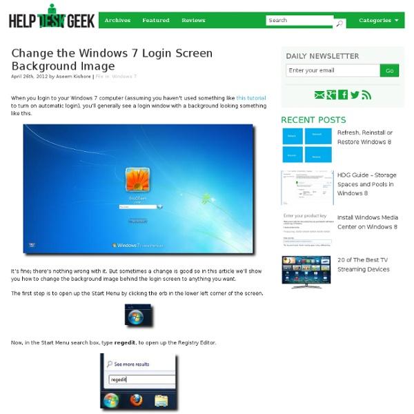 Change the Windows 7 Login Screen Background Image