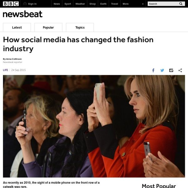 How social media has changed the fashion industry - BBC Newsbeat