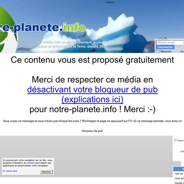 Changement climatique : des données alarmantes