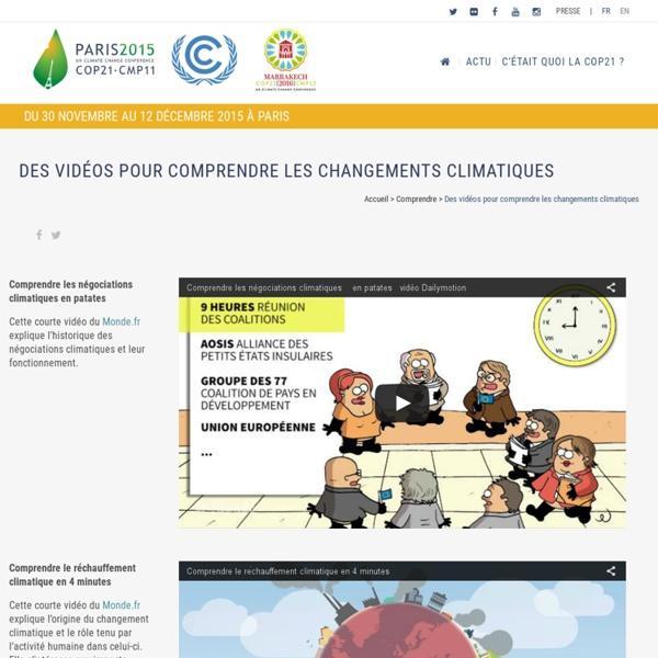 10 vidéos pour comprendre les changements climatiques