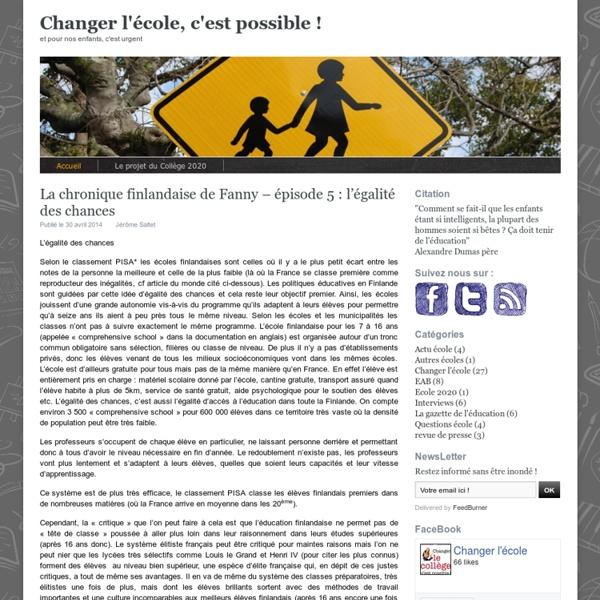 Changer l'école, c'est possible !