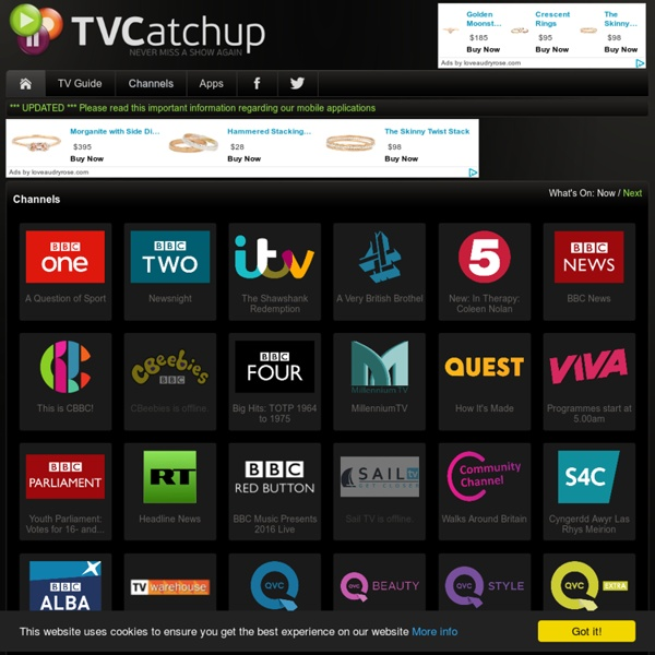 TVCatchup - Never Miss A Show Again