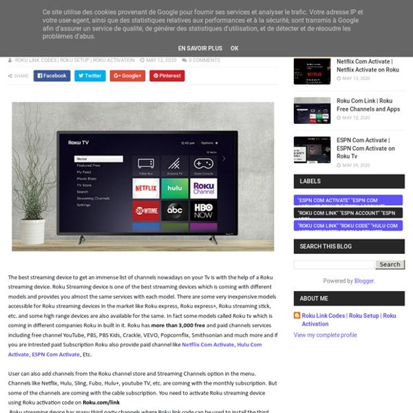 Roku Free Channels and Apps - Roku Setup