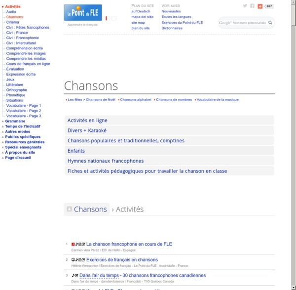 Chansons - Apprendre le français avec des chansons