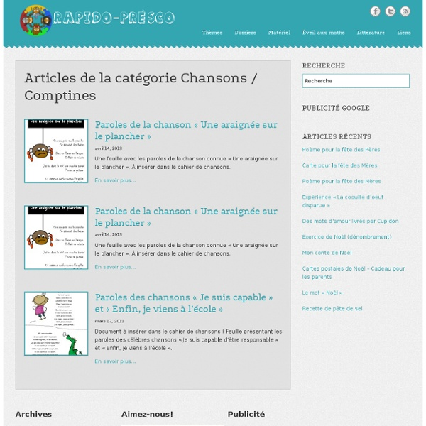 Chansons / Comptines