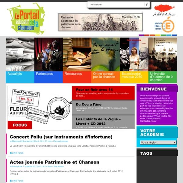 Chansons éducation.fr Blogs