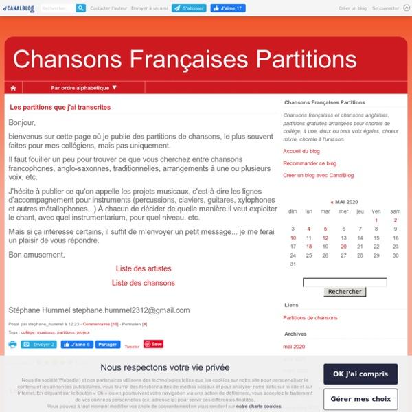 Chansons Françaises Partitions