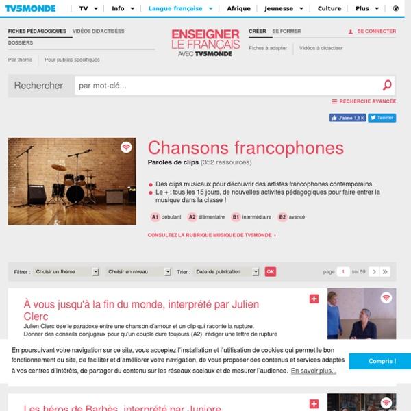 Chansons francophones