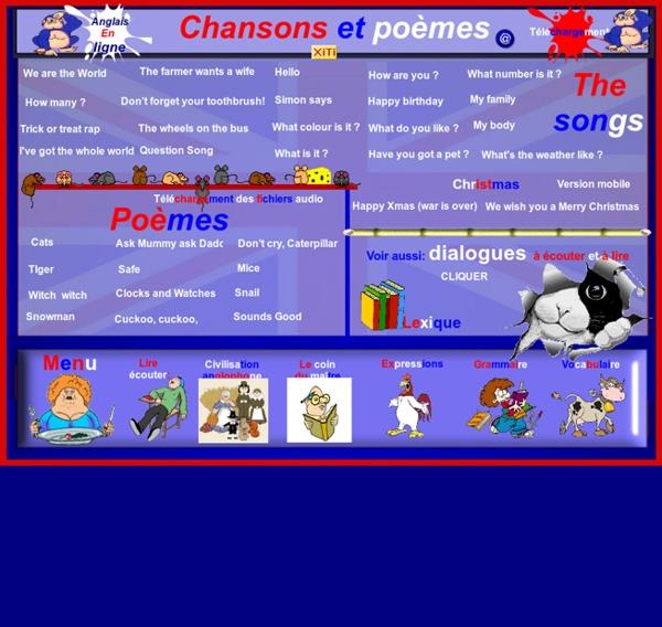 Chansons et poèmes anglais cycle 3