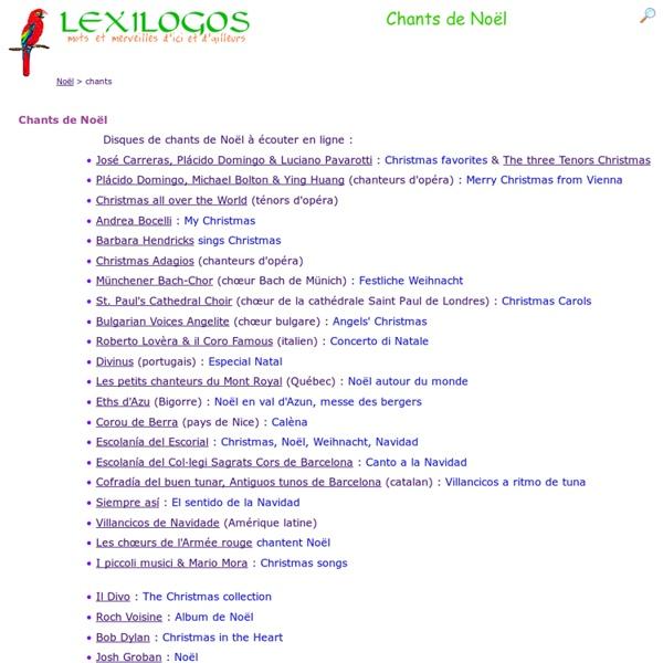 Chants de Noël de tous les pays : écouter en ligne