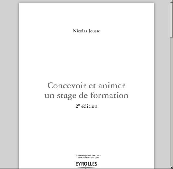 Questions à se poser pr préparer 1 formation - extrait Livre Nicolas Jousse