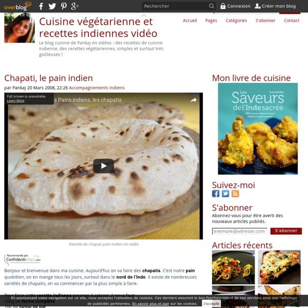Chapati, le pain indien